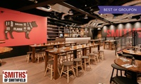 Three-Course Meal with a Cocktail for One or Two at 'SMITHS' of Smithfield, Cannon Street (Up to 53% Off)