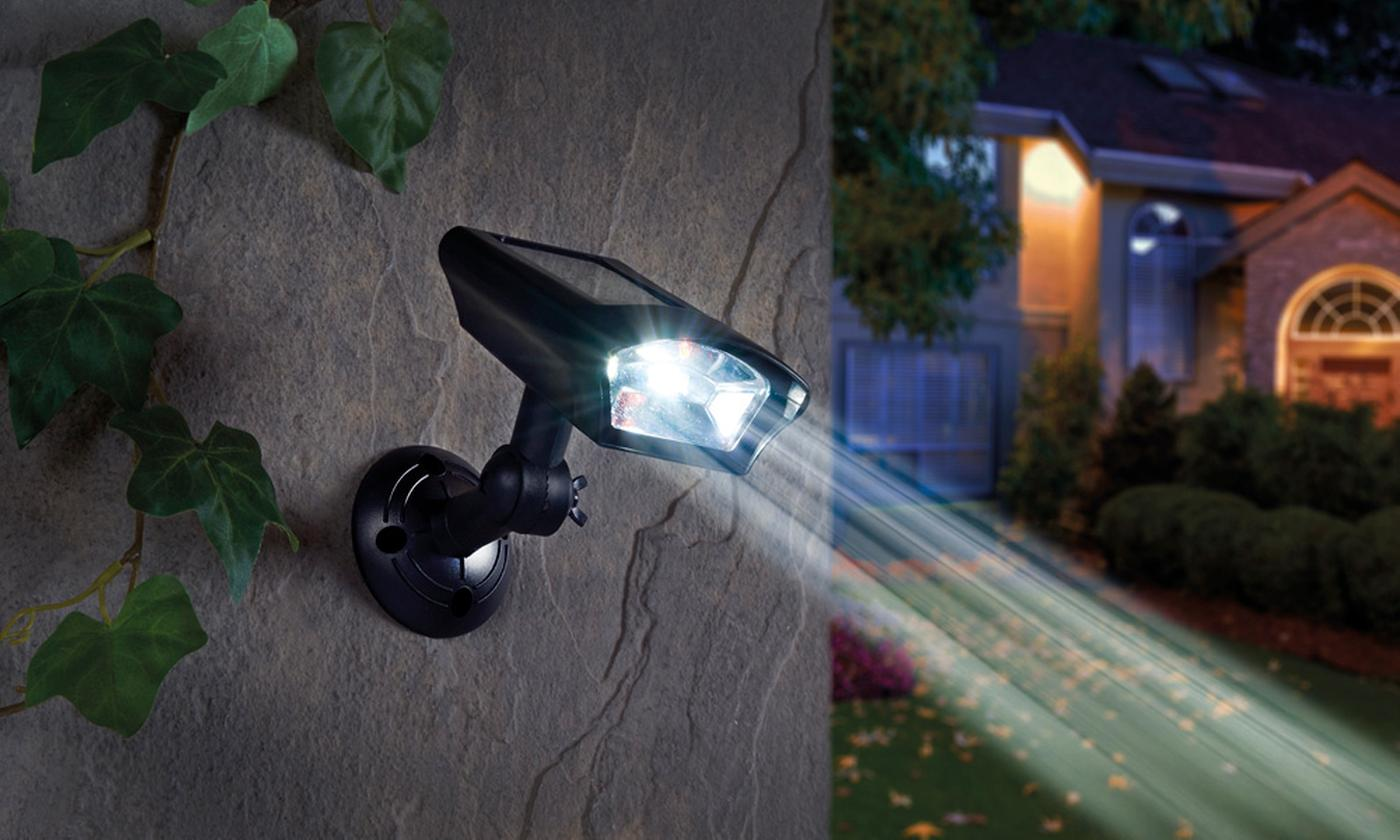 One or Two Solar Security Lights