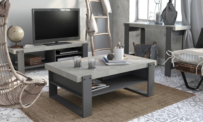 table basse meuble tv groupon. Black Bedroom Furniture Sets. Home Design Ideas