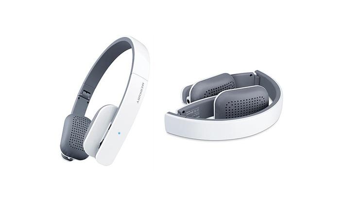 merkury innovations air stream slim wireless bluetooth headphones groupon. Black Bedroom Furniture Sets. Home Design Ideas