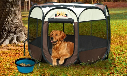From $35 for a Portable Foldable Eight-Panel Pet Playpen (Don't Pay up to $99.99)