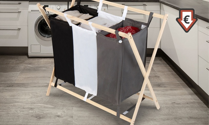 panier linge pliable groupon. Black Bedroom Furniture Sets. Home Design Ideas