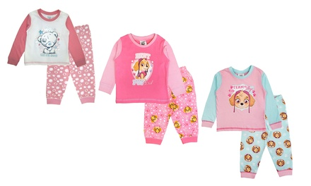 One or Two Pieces of Girls Long-Sleeved Character Pyjamas