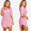 Women's Long Sleeved-Shirt Dress