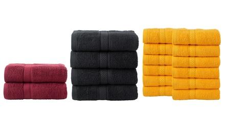 Set de 2, 4 ou 12 serviettes en coton