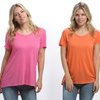 3-Pack of Women's High-Low Tunic Tops