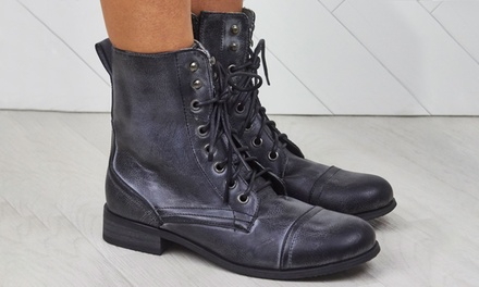 Flat Worker Style Army Boots