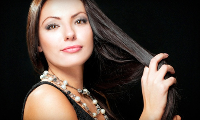 Visage Hair Studio N.Y.C. - Dongan Hills: Haircut with Optional Glaze or Deep Conditioning and Partial Highlights at Visage Hair Studio N.Y.C. (Up to 73% Off)