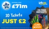 Get 20 EuroMillions Tickets for £2* + 10 Free Scratchcards