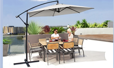 Davis & Grant Square or Round Parasol with Optional Cover or FourPiece Base