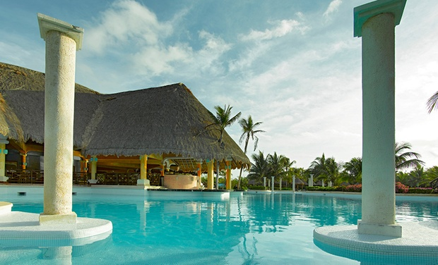 TripAlertz wants you to check out ✈ 4-Night All-Inclusive Grand Palladium Riviera Resort & Spa Stay with Air. Price per Person Based on Double Occupancy. ✈ All-Inclusive Riviera Maya Vacation with Air from JetSet Vacations - All-Inclusive Mexico Vacation