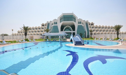 Abu Dhabi: 1 2 Nights in Deluxe Room for Two Adults and Two Children with Optional Meal Plans at Mirfa Hotel