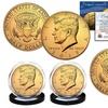 24K Gold-Plated 2017 JFK Half-Dollar Coin Set (2-Piece)