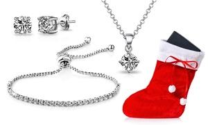 Ensemble cadeau de Noël plaqué argent