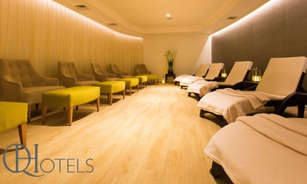 Day Spa Pass for Two with Drink and Pastry at QHotels, Multiple Locations