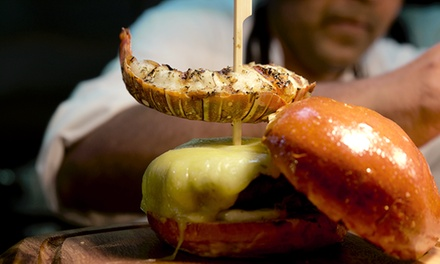 Burger with Lobster Tail Option, Chips and Milkshake or Soft Drink for Up to Four at Le Madison (Up to 46% Off)