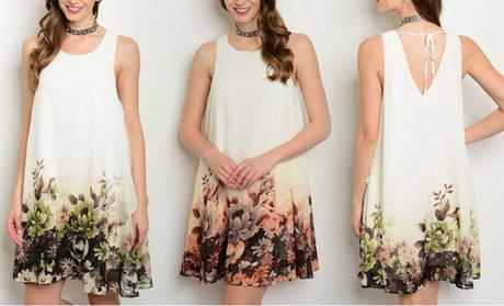 Juniors' Floral-Print Dress!