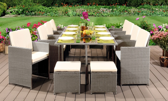 High Back Chair Rattan Cube Sets ...