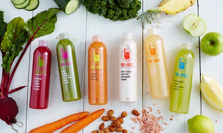 OneDay Cold Pressed Juice Cleanse Consisting of Eight Juices at OneJuice Head Office