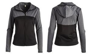 Women's Zip-Up Track Jacket with Hood