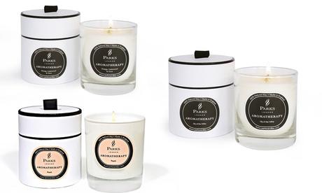 1 o 2 velas aromaticas con fundas Parks London Oferta en Groupon