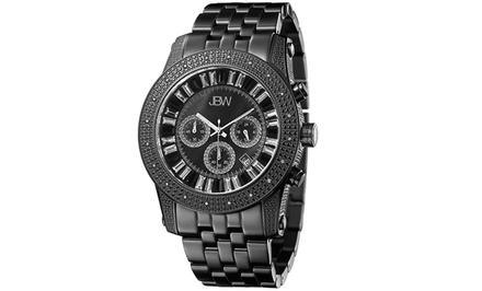 Men's JBW Krypton Watches with Diamond-Accented Bezel