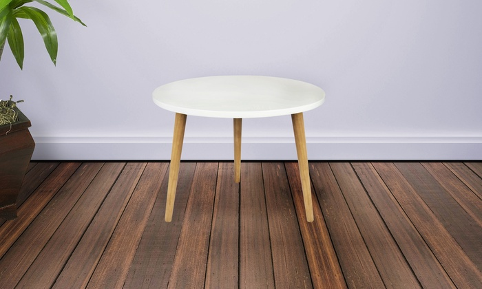 ... Mid Century Modern Round Accent Side Table: Mid Century Modern Round Accent  Side