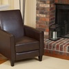 Jamestown Bonded Leather or Fabric Recliner Club Chair