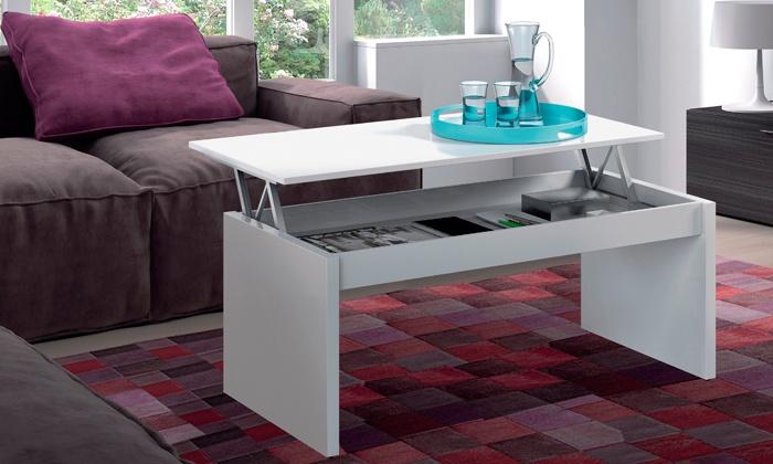 Table Basse Avec Plateau Relevable Groupon Shopping