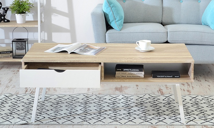 Table basse au design scandinave groupon Table basse scandinave groupon