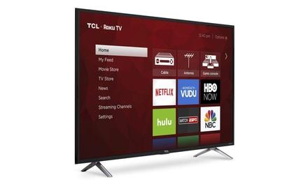 "TCL 49"" 4K UHD Roku Smart LED TV (2017 Model) (Refurbished)"