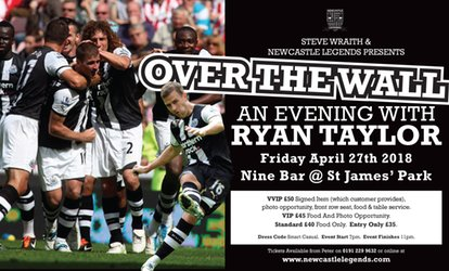 image for An Evening with Ryan Taylor, 27 April 2018 at Nine Sports Bar & Lounge (Up to 46% Off)