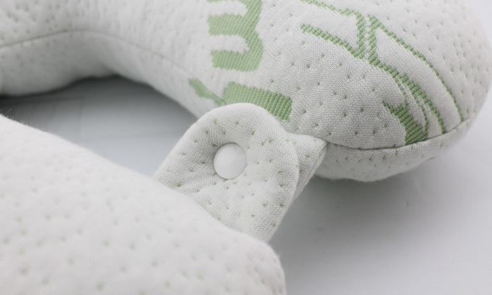Bamboo Memory Foam Travel Pillow Groupon