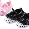 Black or Pink Polka Dot Lace Baby Shoes