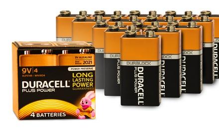 Four or Eight Duracell Plus Power 9V Alkaline Batteries