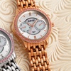 August Steiner Women's Watch with Crystal Bezel and Diamond Marker