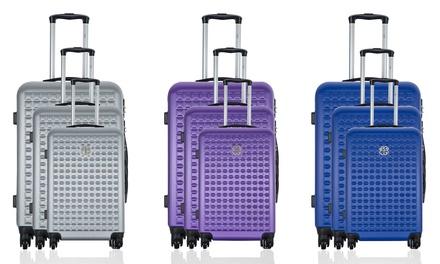 Set 3 valises en ABS, modèle Anouk, coloris au choix