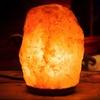 Himalayan Salt Lamp with Wooden Base