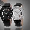 Stuhrling Original Men's Swiss Skeleton Leather Strap Watch
