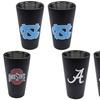 NCAA 2-Pack Black Matte/ Chrome Pint Glass
