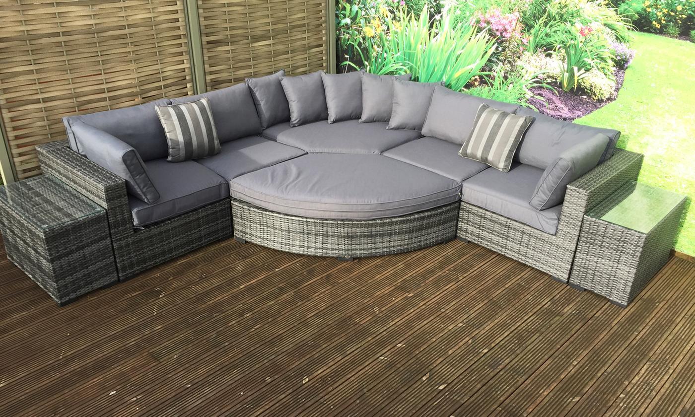 daisy modular rattan-effect corner sofa