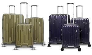 Gabbiano Avila Expandable Hard-Sided Spinner Luggage Set (3-Piece)