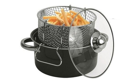 Carbon Steel Gourmet Non-Stick Deep-Fryer Set photo