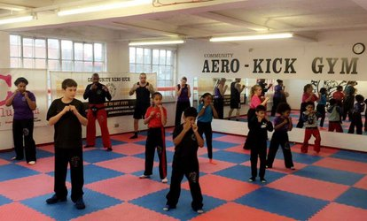 image for Five or Ten Combat Training Classes or One-Month Membership at Aero-Kick (Up to 83% Off)