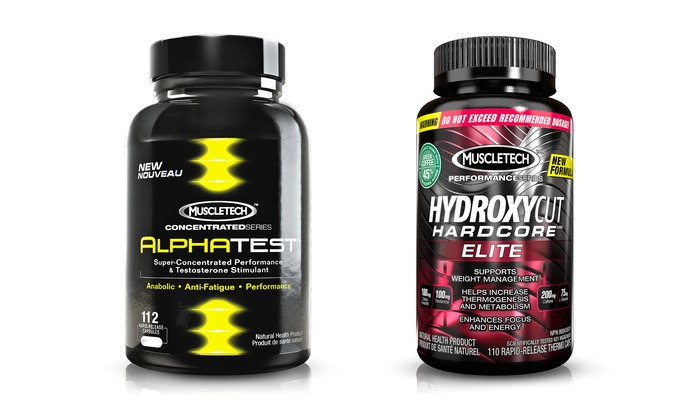 Muscletech AlphaTest Testosterone Booster & Hydroxycut Diet Supplement ...
