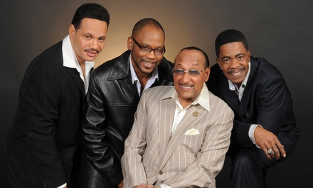 The Temptations and The Four Tops on Wednesday, April 12, at 7:30 p.m.