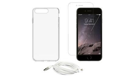 Protector de cristal templado para iPhone 7 y 7 Plus con opción a carcasa de gel desde 3,99 € (hasta 91% de descuento)