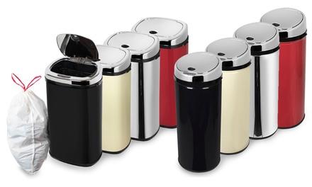 Automatische vuilnisbak van Morphy Richards verkrijgbaar in verschillende kleuren en capaciteit vanaf € 44,99
