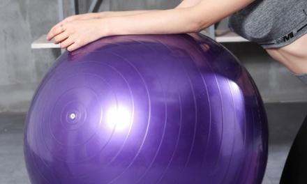 45cm, 55cm or 65cm Anti-Burst Yoga Ball with Air Pump