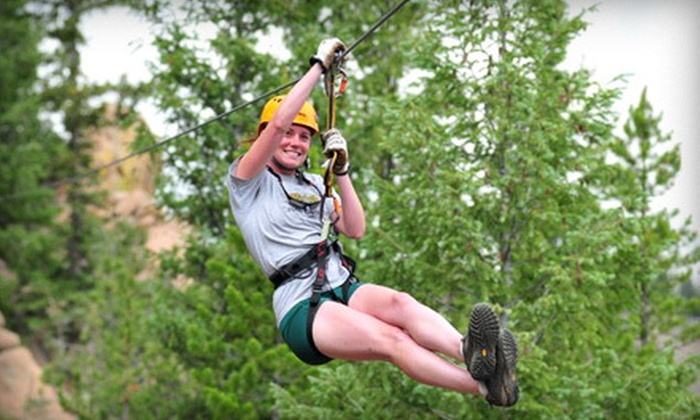 Arkansas Valley Adventures - Idaho Springs: Zipline Tour with Photo CD for One, Two, or Four from Arkansas Valley Adventures (Up to 56% Off)
